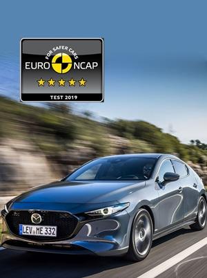 Novo Mazda3 regista 5 Estrelas na avaliação Euro NCAP