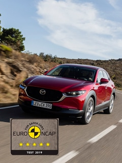 """Mazda CX-30 conquista """"5 Estrelas"""" na avaliação Euro NCAP"""