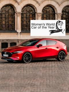 "Mazda3 galardoado com o troféu ""Women's World Car of the Year 2019"""